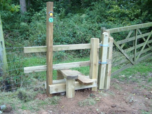 Lower step supported on the stile as it was impossible to find a place for more holes!