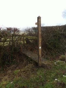 New finger post on Butterhill Lane