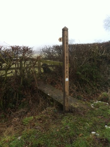 New finger post on Butterhill Lane