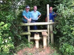 Peter, Paul and Malcolm having finished the second stile.